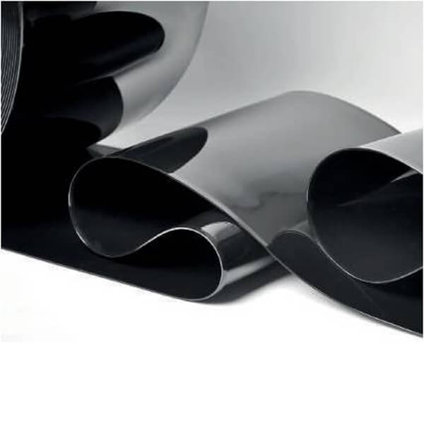 Rollo pvc para cortinas color negro