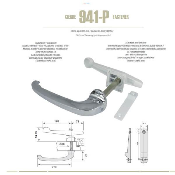 Cierre G 941 un punto de presión